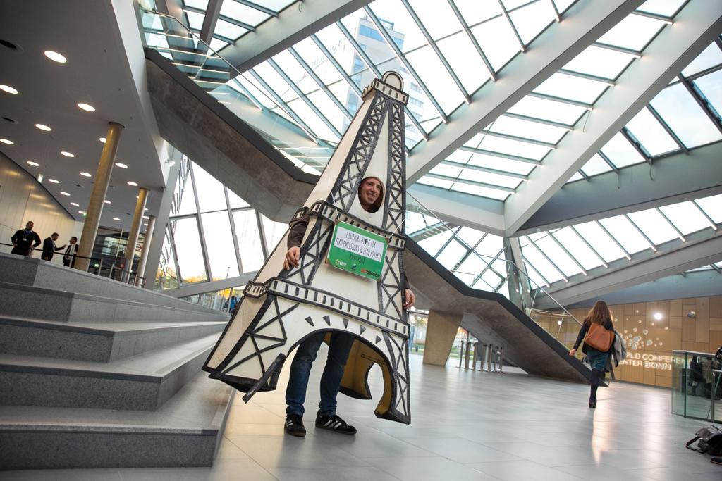 A replica of the Eiffel Tower