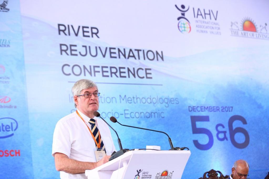 Professor Roger Falconer at the River Rejuvenation Conference. Credit: Rohini Oak / Twitter