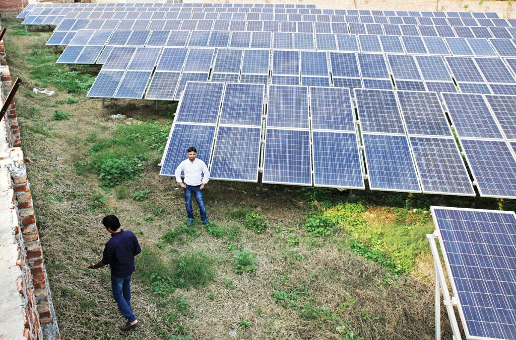 India has a target of installing 100GW of 