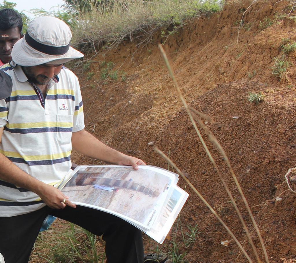 Dr Kumar Akhilesh from the Sharma Centre has been excavating at this place since 1999. Credit: India Science Wire