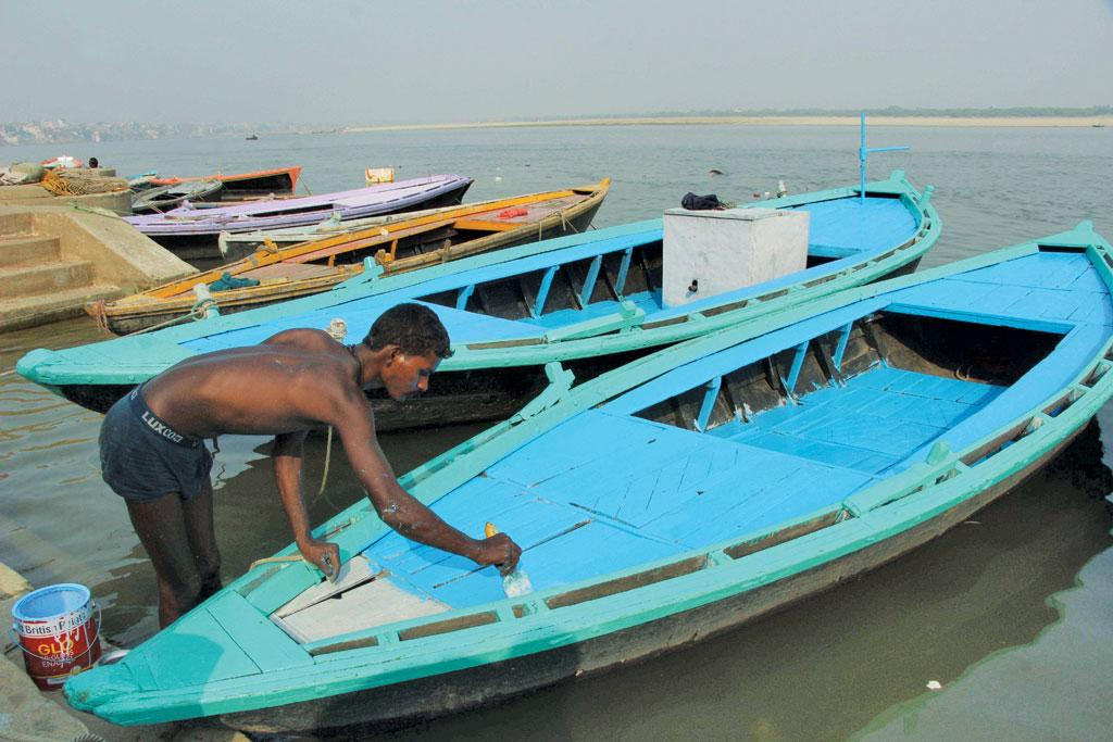Not all boatmen own a boat because the cost of making a boat is about  Rs 10-12 lakh