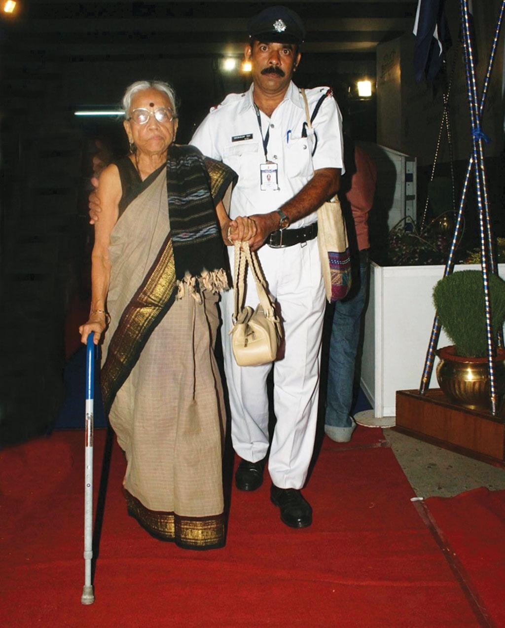 Senior citizens participate at a cultural event organised by the Kolkata Police under the Pronam initiative