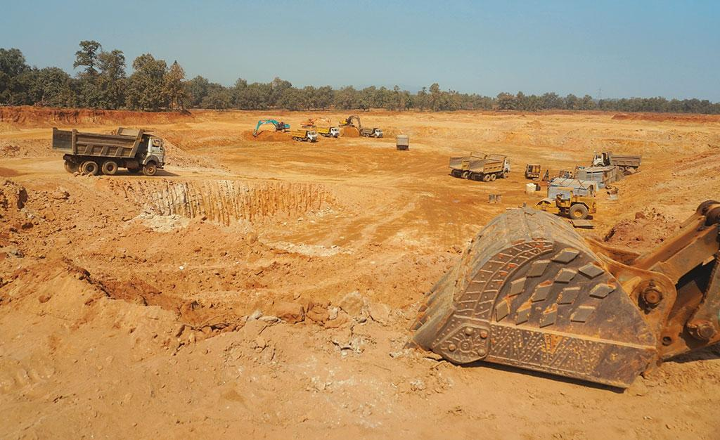 TRN Energy has continued the construction of an ash pit on land it has allegedly acquired illegally in Chhattisgrah's Katangdi village despite a High Court stay order (Photo: Ishan Kukreti)