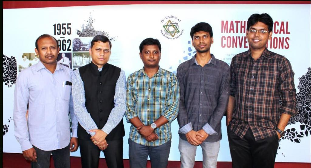 The Research team:  P. Mangalapandi, Areejit Samal, BS Karthikeyan, M Karthikeyan and RP Vivek-Ananth.