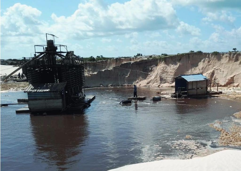Since 2011, the company has been mining heavy sand minerals. Credit: Amnesty International