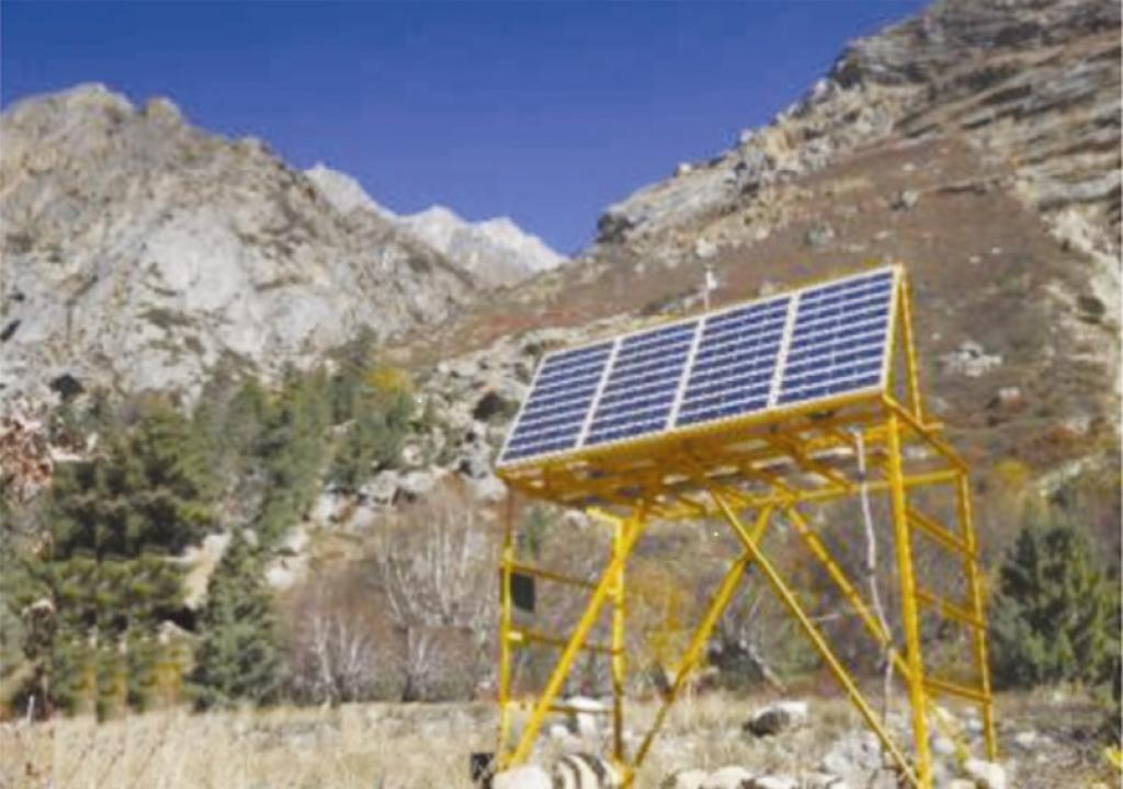Black carbon monitoring station at Chirbasa near Gangotri Glacier in Uttarakhand. 