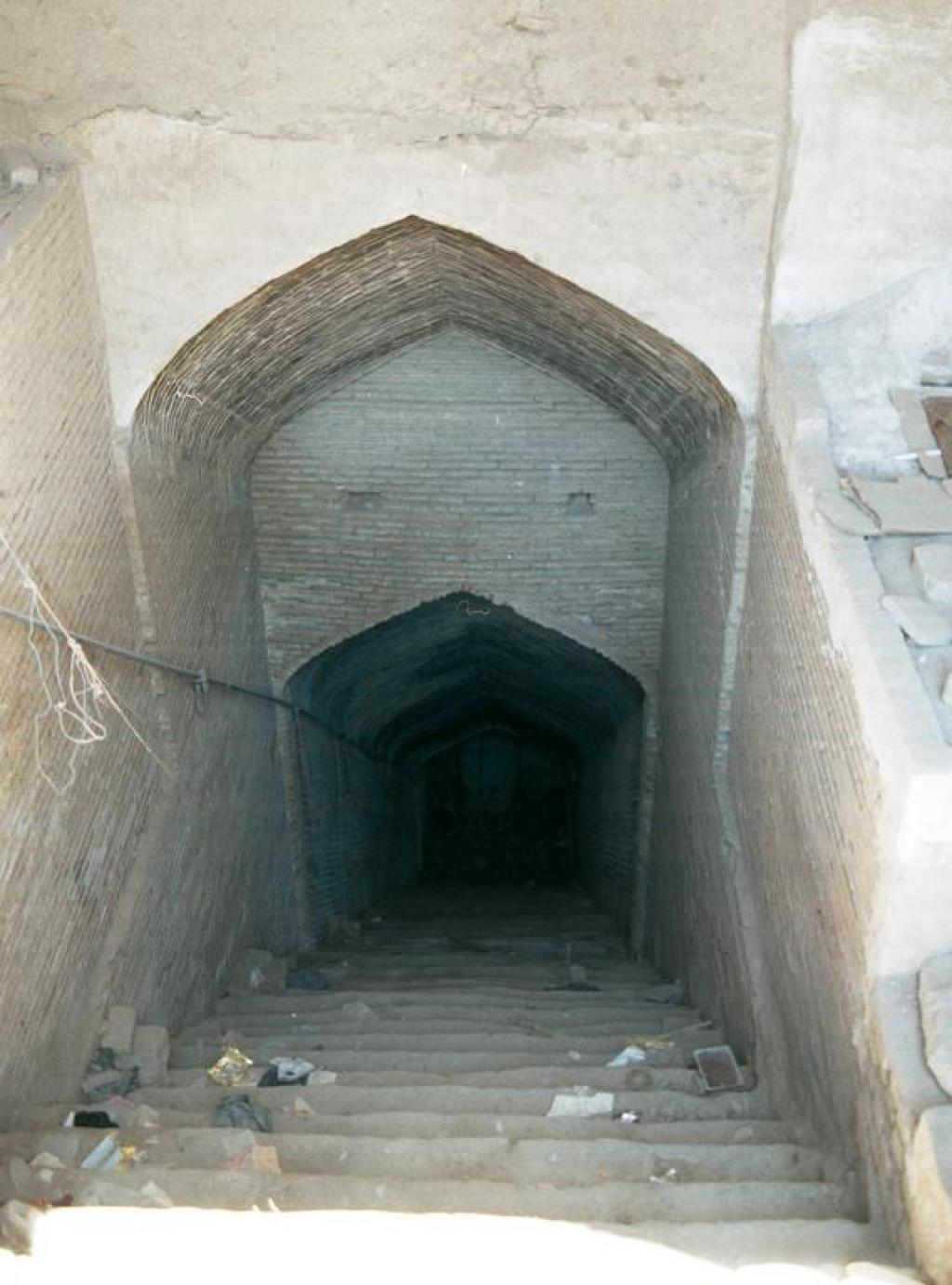 Steps leading to a 'qanat' tunnel in Kashan, Iran    Credit: Wikimedia Commons