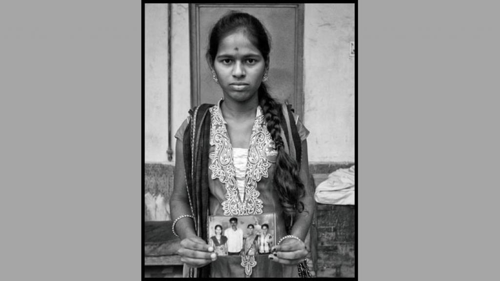 Bocha Manisha, of Gauraya Palle village, Telangana: Both her parents committed suicide. Later, her grandmother too passed away. She now works to support herself and her brother  (Photographs: Vijay S Jodha And Oxford University Press)