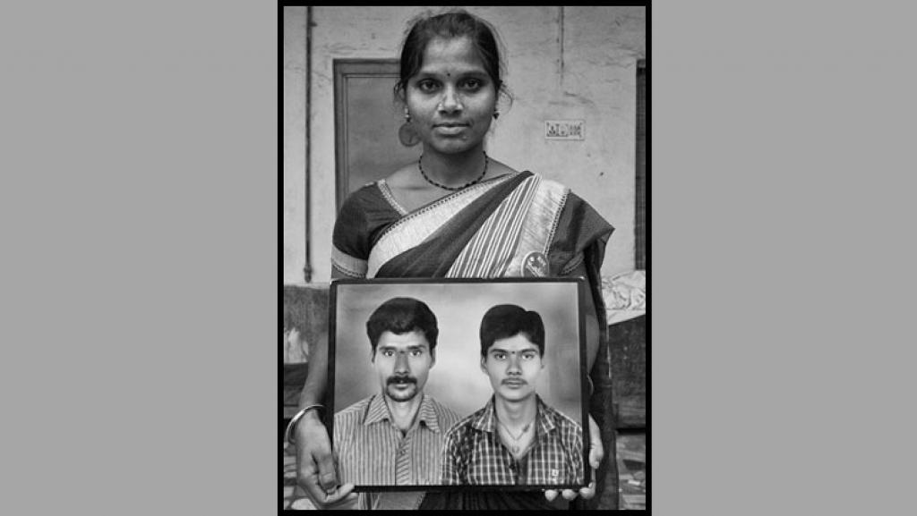 Devarajula Latha of Chilpuru village, Telangana: Her husband, who was a tenant farmer, did not own land. So Latha is still awaiting compensation as the rules make it difficult for linking tenant farmers' suicide to agrarian distress  (Photographs: Vijay S Jodha And Oxford University Press)
