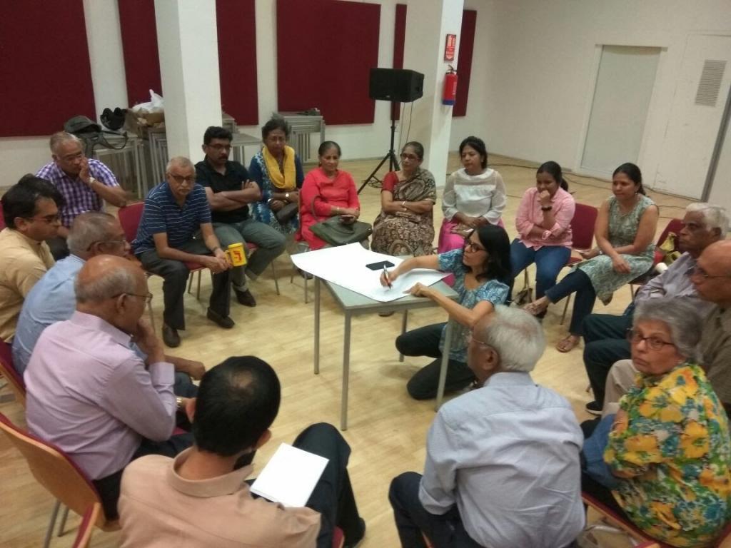 Members of I Change Indiranagar meet to draft a manifesto. Credit: I Change Indiranagar