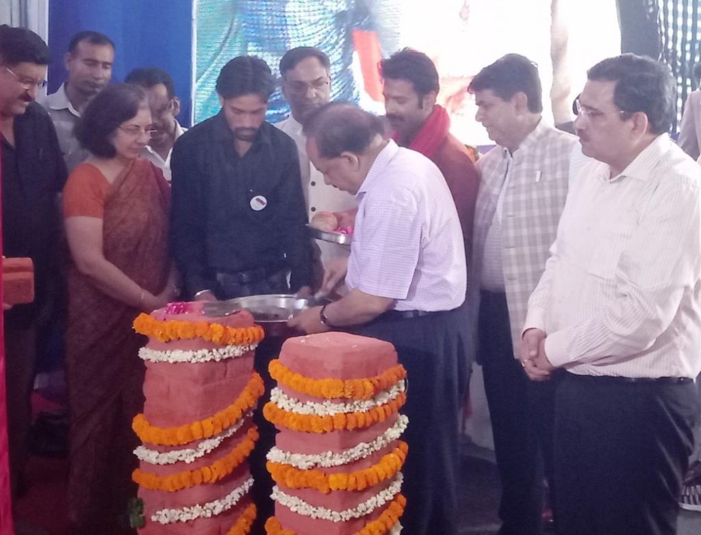 भवन की आधारशिला बृहस्पतिवार को विज्ञान और प्रौद्योगिकी विभाग के 47वें स्थापना दिवस के अवसर केंद्रीय मंत्री हर्षवर्धन ने रखी