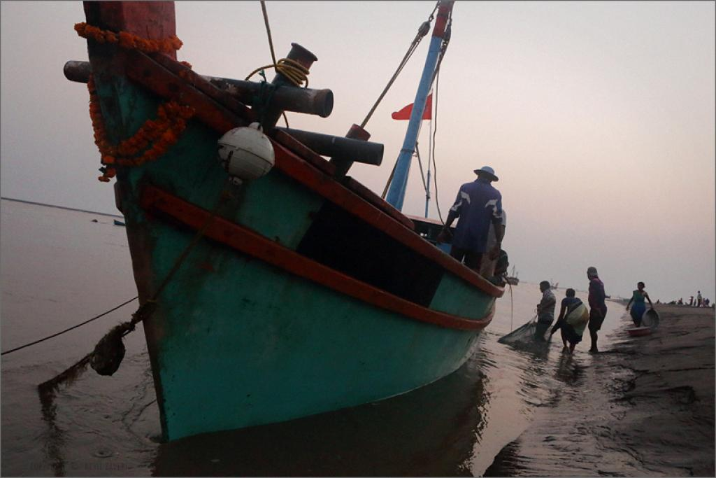 Fishermen fear losing their livelihood due to depleting fish stocks. Credit: Nevil Zaveri / Flickr