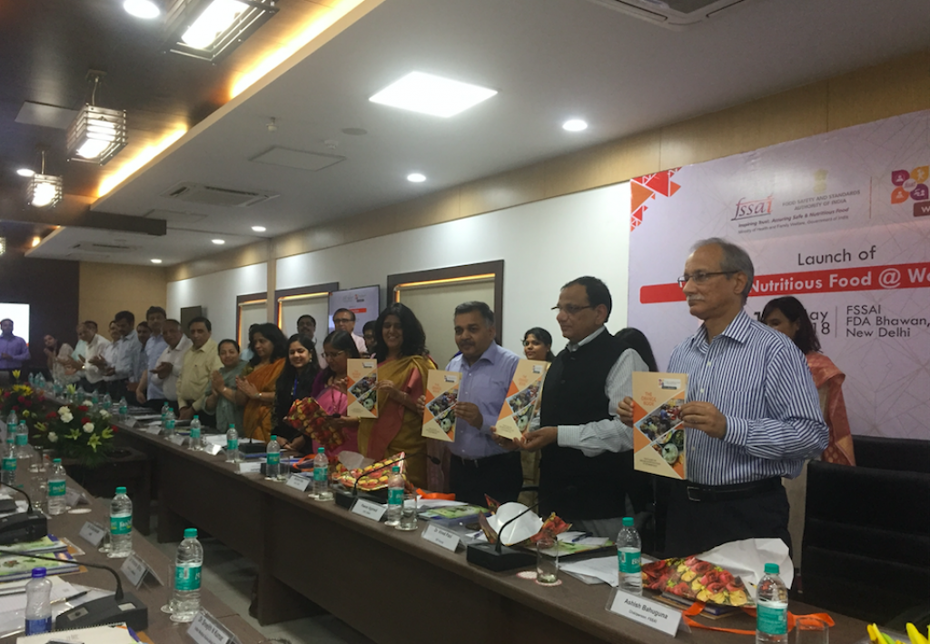 FSSAI has also released The Orange Book: Your Guide to Safe and Nutritious Food at the Workplace. Credit: Vibha Varshney
