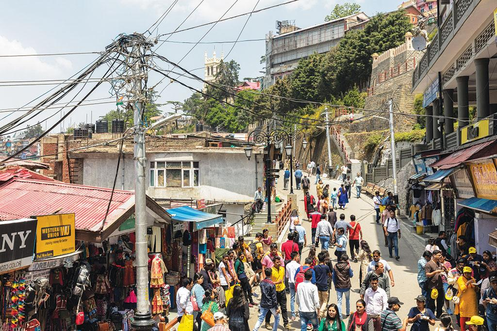 <b>SHIMLA  2017 </b> - The city is home to over 200,000 people. While its growth in recent decades has been steady, access to essential services like power and water is ad-hoc