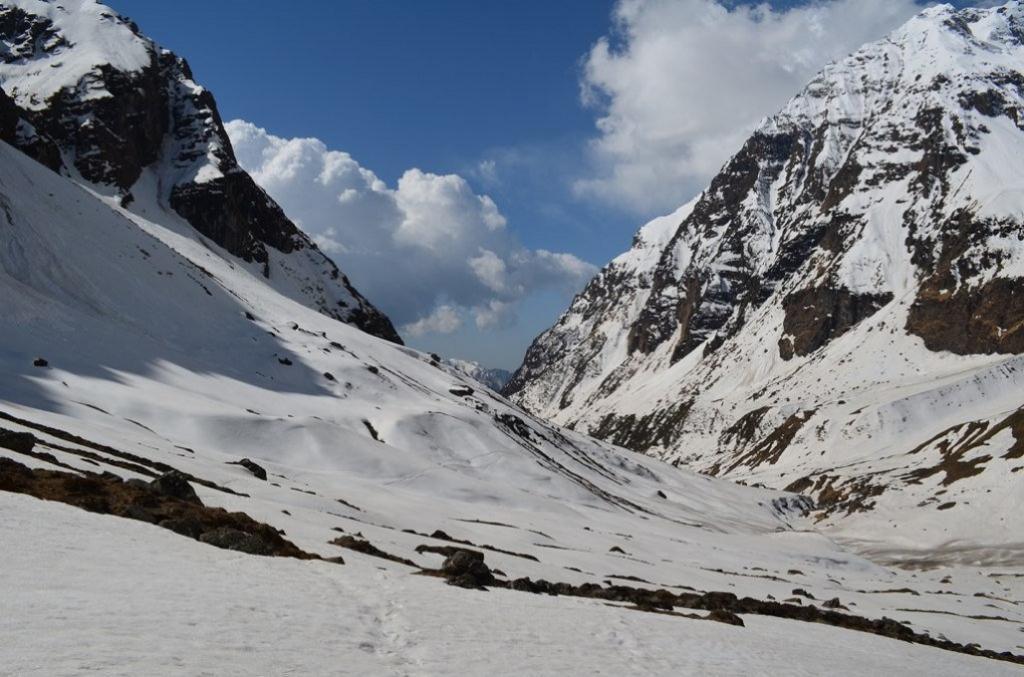 The Pindari glacier has retreated 51 metres each year since 1976. Credit: Laura7581/Flickr