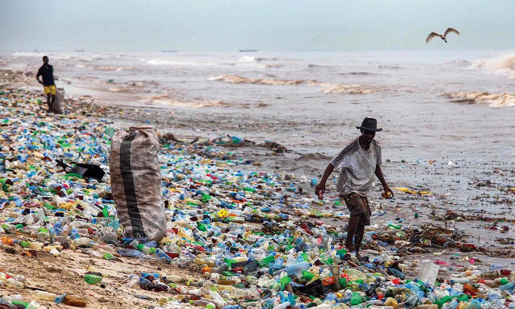 By 2025, the annual mismanaged plastic waste in Africa could be as high as 11.5 million tonnes. Consumer waste forms 93 per cent of plastic marine debris globally  (Courtesy: GREENPEACE)