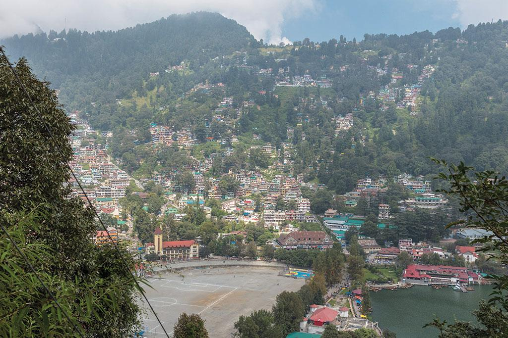 <b>NAINITAL 2017 </b> - Residential and tourist housing have mushroomed in the vulnerable hillside. It is now used as a cricket and sports pitch. It is also home to the town hall and a mosque. In case of a landslide, tens of thousands could die