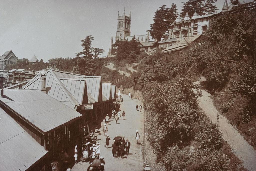 <b>SHIMLA 1915 </b> - The fabled Mall Road in Shimla, the summer capital of the British Raj