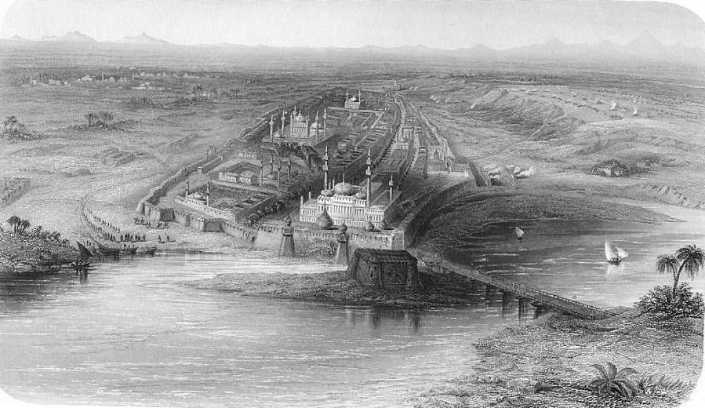 Shahjhanabad, the old city, in 1858. Credit: The Yamuna River Project