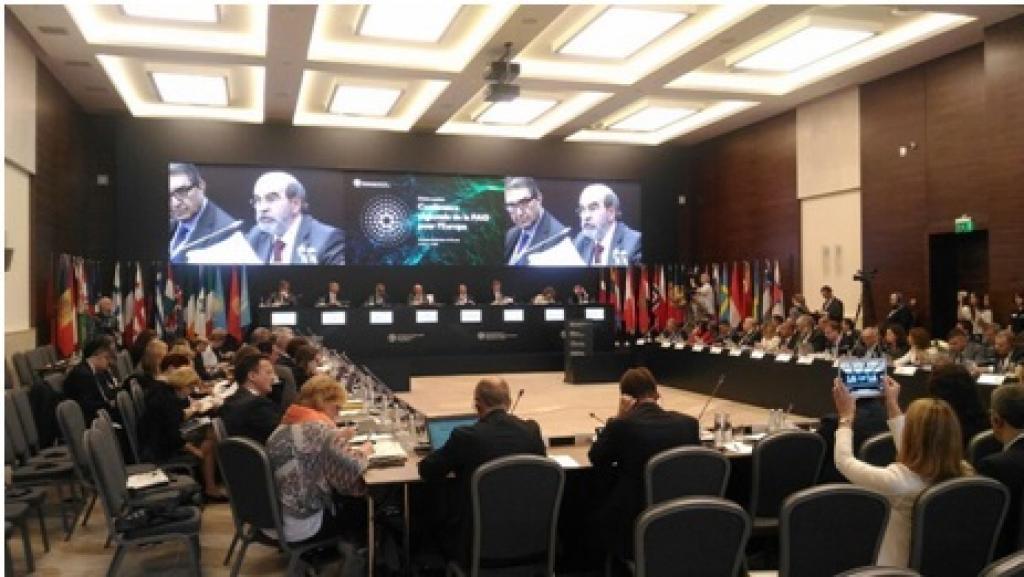 Graziano da Silva addressing FAO's Regional Conference for Europe.