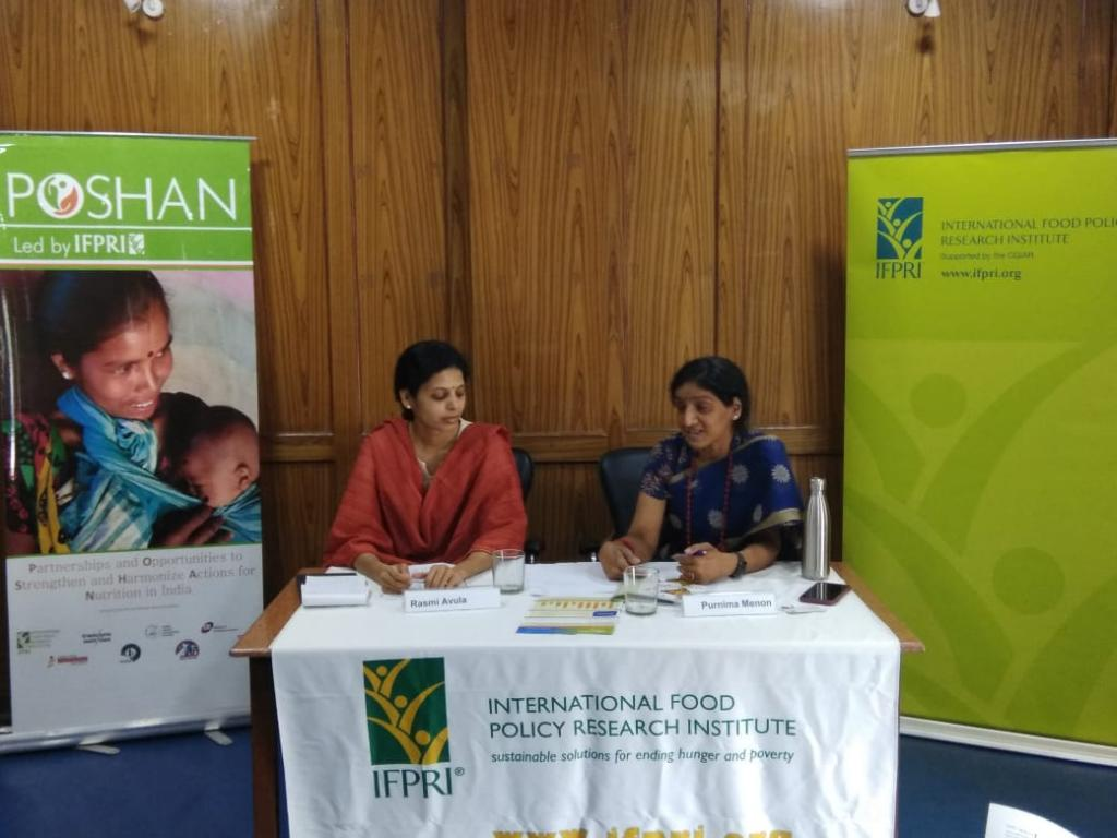 Rashmi Avula and Purnima Menon, authors of the study, at a press conference in Delhi on Thursday.