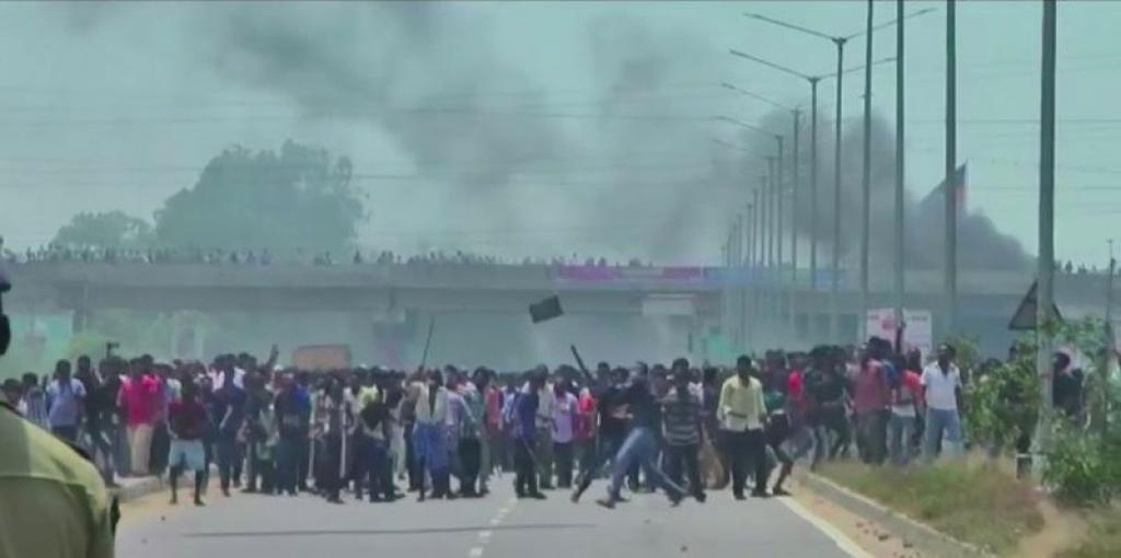 Protests against the copper plant, which is one of India's biggest, have been going on for over three months. Credit: Reuters