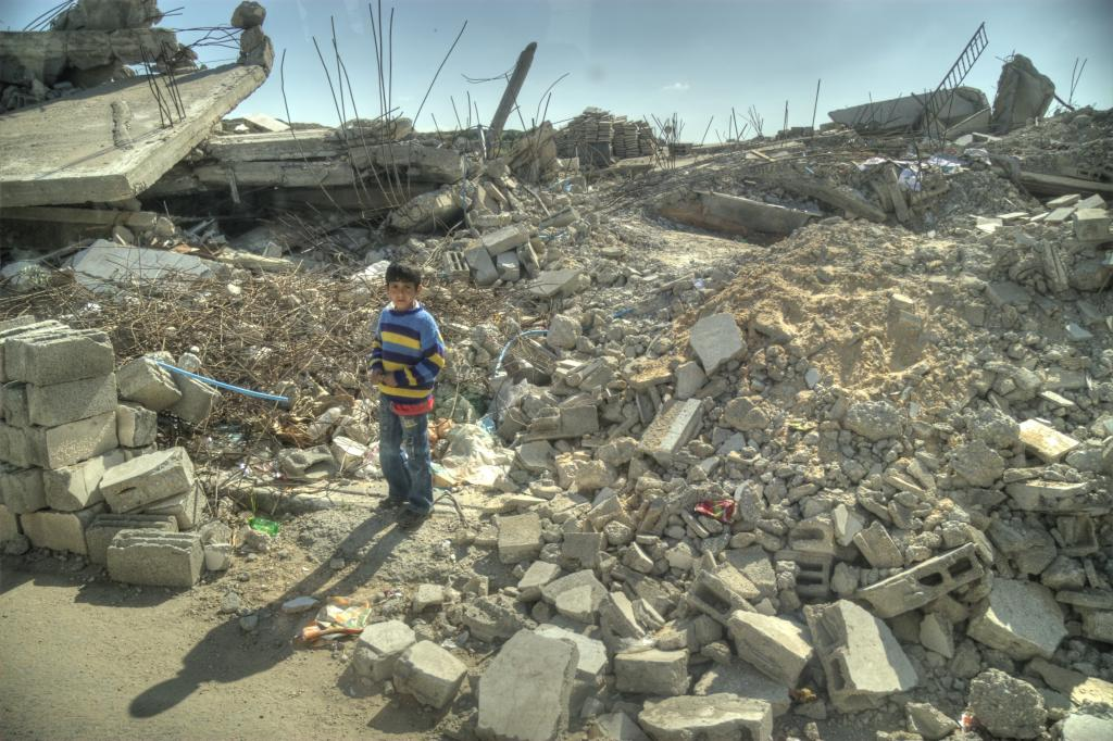 A file photo of the Gaza conflict; over 60 civilians were killed on May 14, the day when tens of thousands of Palestinians participated in a peaceful protest. Credit: Wikimedia Commons