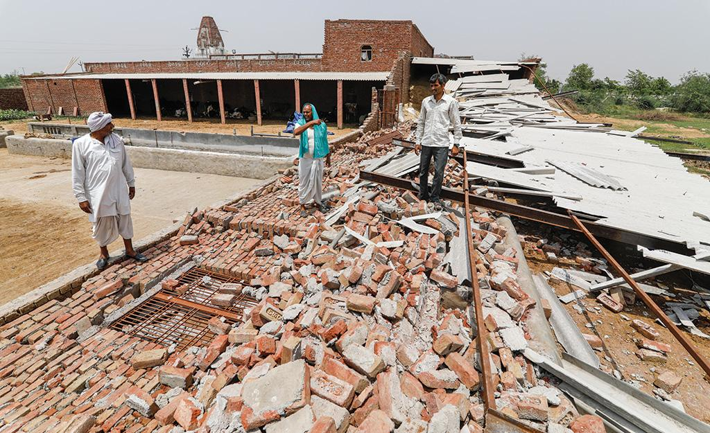 The storms caused massive damage to property—almost 5,000 houses collapsed. People also lost their livelihoods as cattle, sheep and goats were killed by the storms. In the aftermath of the storms, people are facing two major problems —lack of water and electricity (Photographs: Vikas Choudhary)