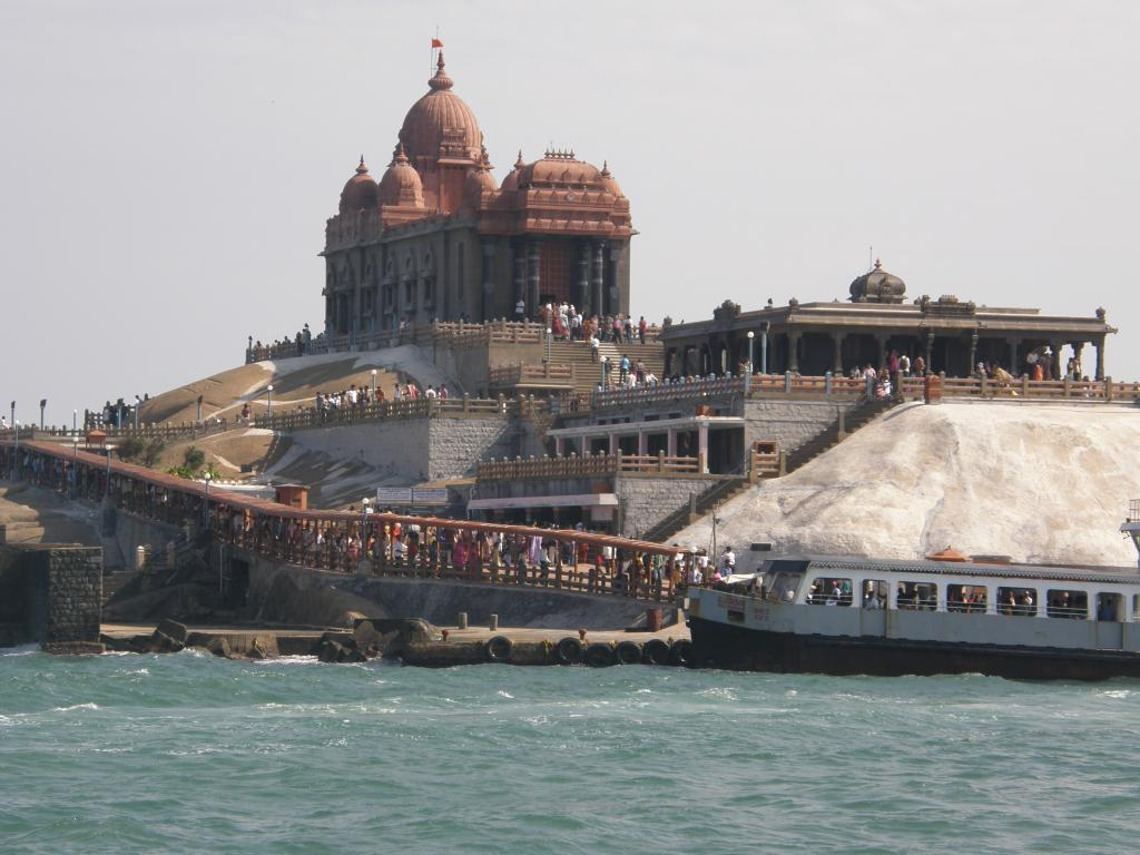 The Vivekananda Rock Memorial at Kanyakumari          Credit: Flickr