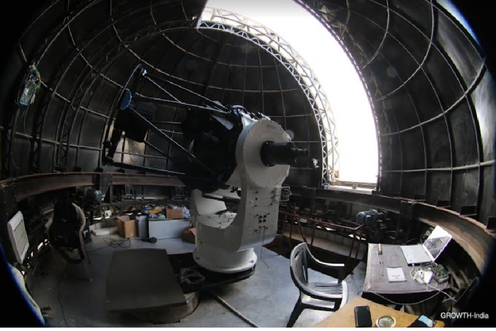 Inside the dome of GROWTH-India telescope at Hanle  (Credit : GROWTH-India)