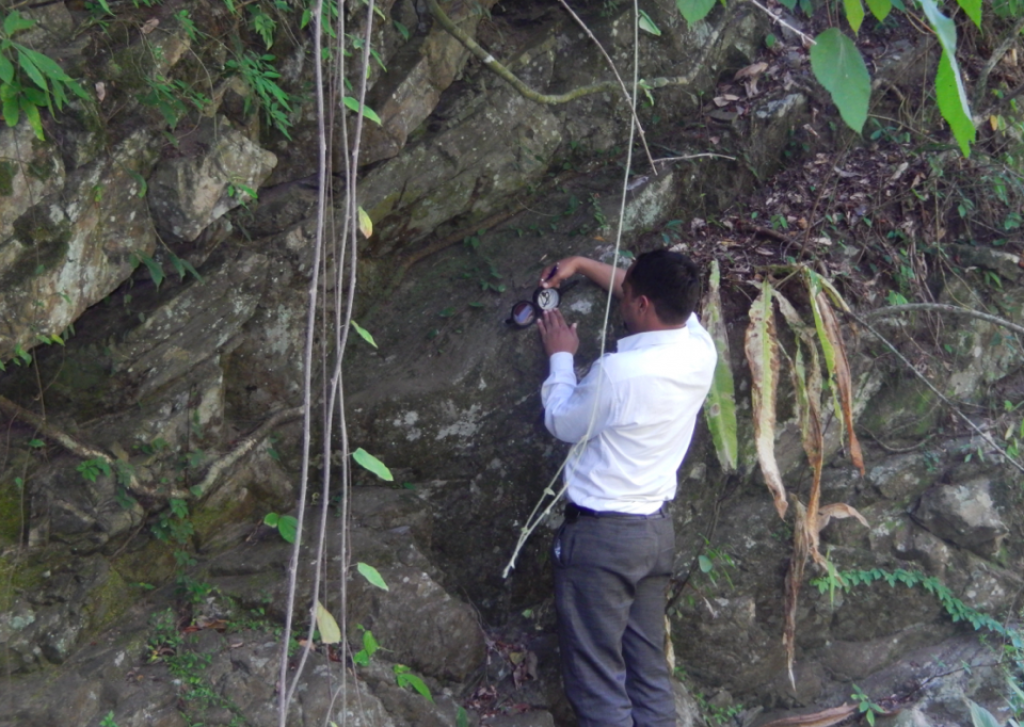 Hydrogeological survey being conducted. Credit: Tata Water Mission