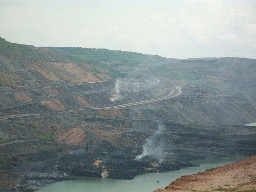 The Singareni opencast coal mines at Manuguru in Telangana   Credit: Wikimedia Commons