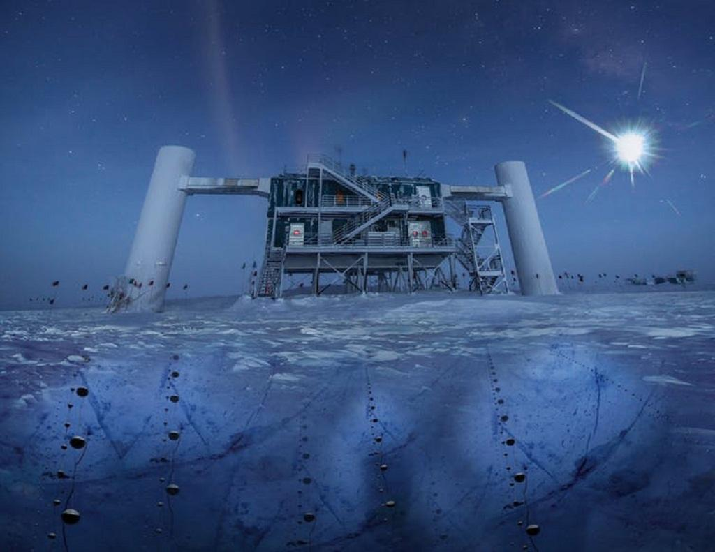 Artist's impression based on real picture of Icecube lab. IceCube/NSF