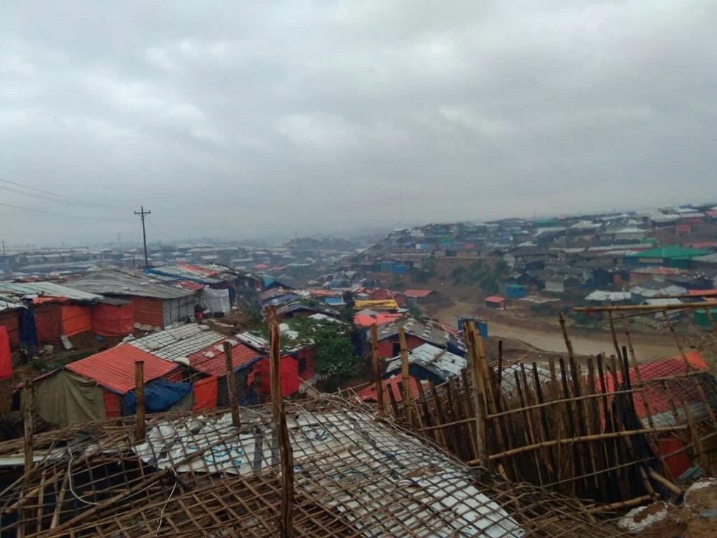Monsoon rain hits the Balukhali camp in Cox's Bazar, turning the alleys into mud. Credit: Mohammad Al-Masum Molla