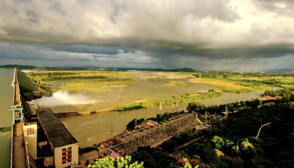 The construction of the Hirakud dam in the 1950s started the decline of the Mahanadi River basin, experts say             Credit: Ranjan Panda
