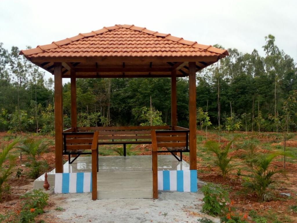 A pergola at the Gubbi Tree Park               Credit: V Sundararaju