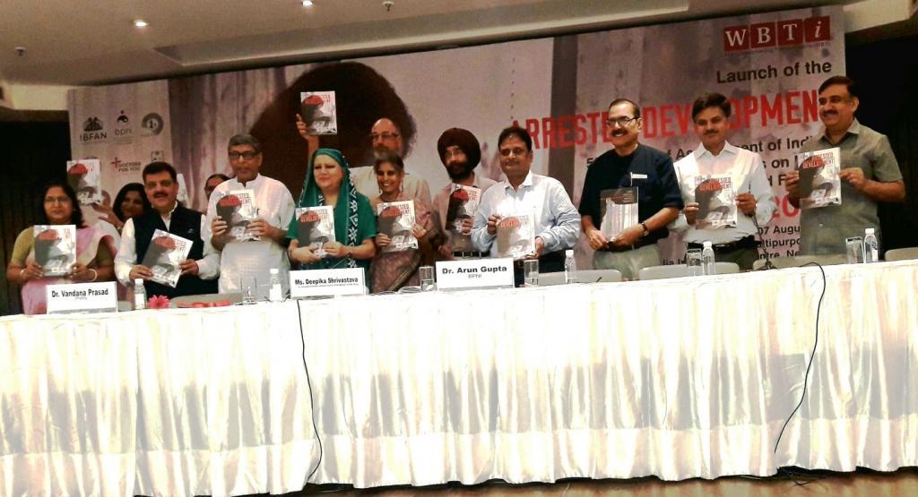 नई दिल्ली में जारी की गई 'अरेस्टेड डेवलपमेंट, द फिफ्थ रिपोर्ट ऑफ इंडियाज पॉलिसी ऐंड प्रोग्राम्स ऑन ब्रेस्टफीडिंग ऐंड इन्फेंट ऐंड यंग चाइल्ड फीडिंग-2018' नामक इस रिपोर्ट में स्तनपान के संदर्भ में महिलाओं की सहायता संबंधी नीति और कार्यक्रमों की पड़ताल की गई है।