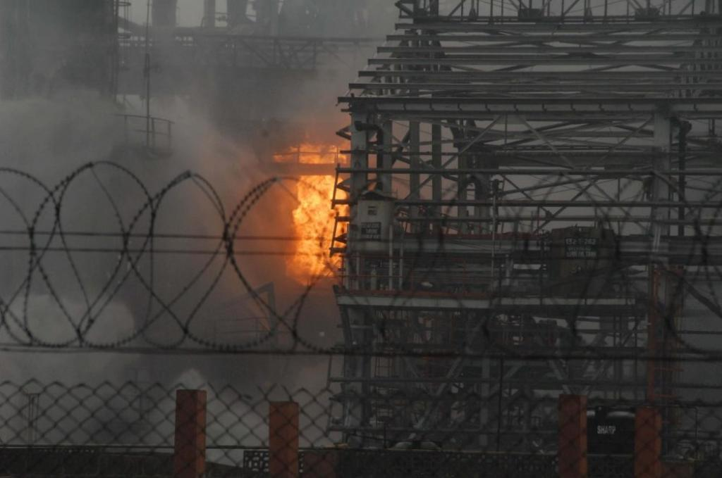 This is the second major fire incident reported in a Bharat Petroleum establishment in the past 10 months in Mumbai. Credit: Siasat.com