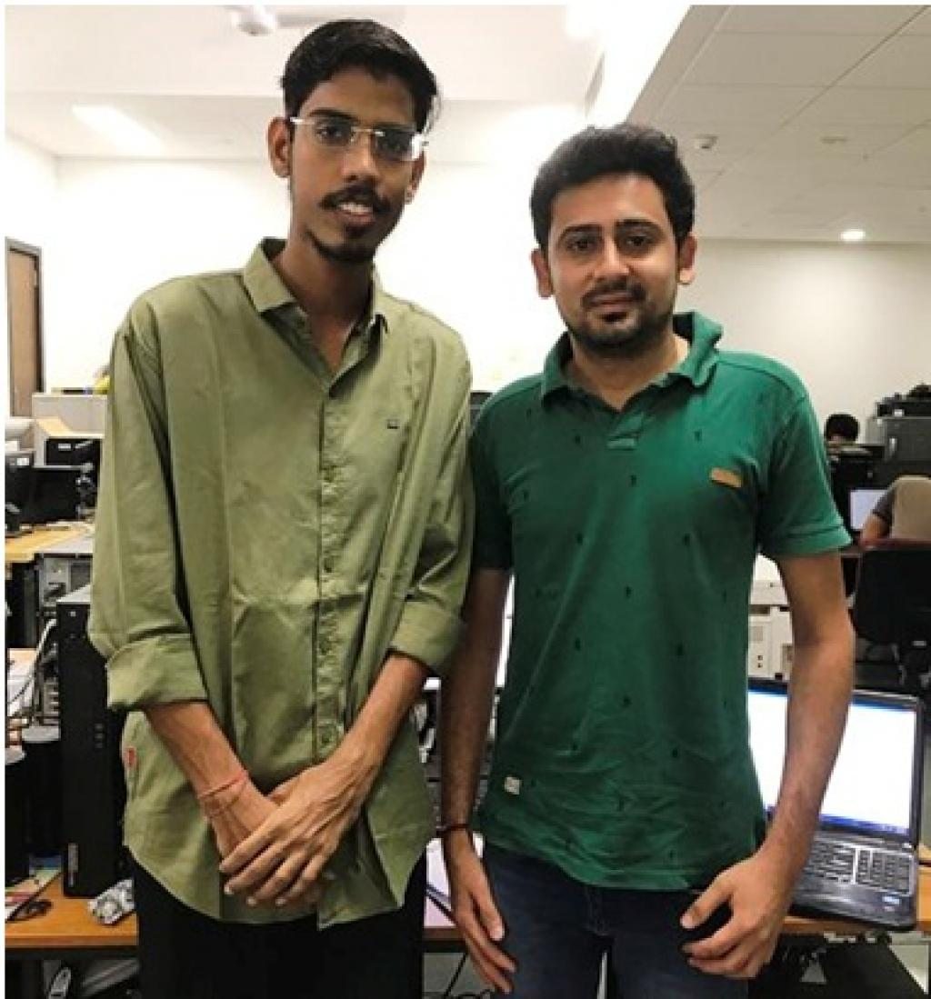 Members of the research team; Saran Aadhar and Harsh Shah