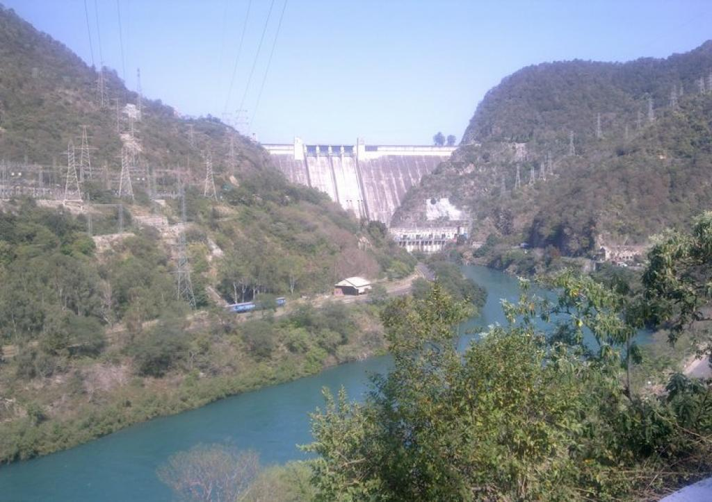 The Bhakra Dam in Himachal Pradesh's Bilaspur district       Credit: Wikimedia Commons