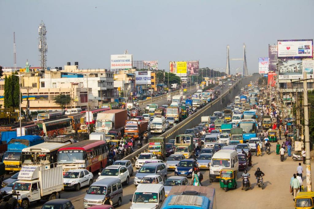 Transport-related emissions in megacities: Delhi on top