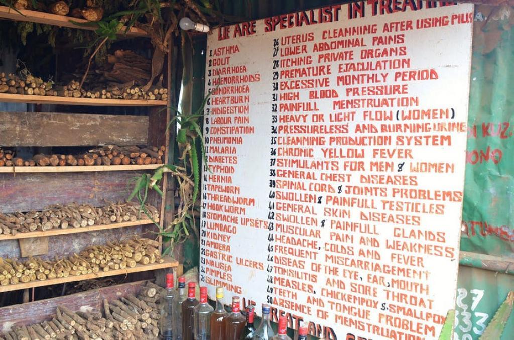 Traditional medicines on sale in Kibera slum in Nairobi. Flickr