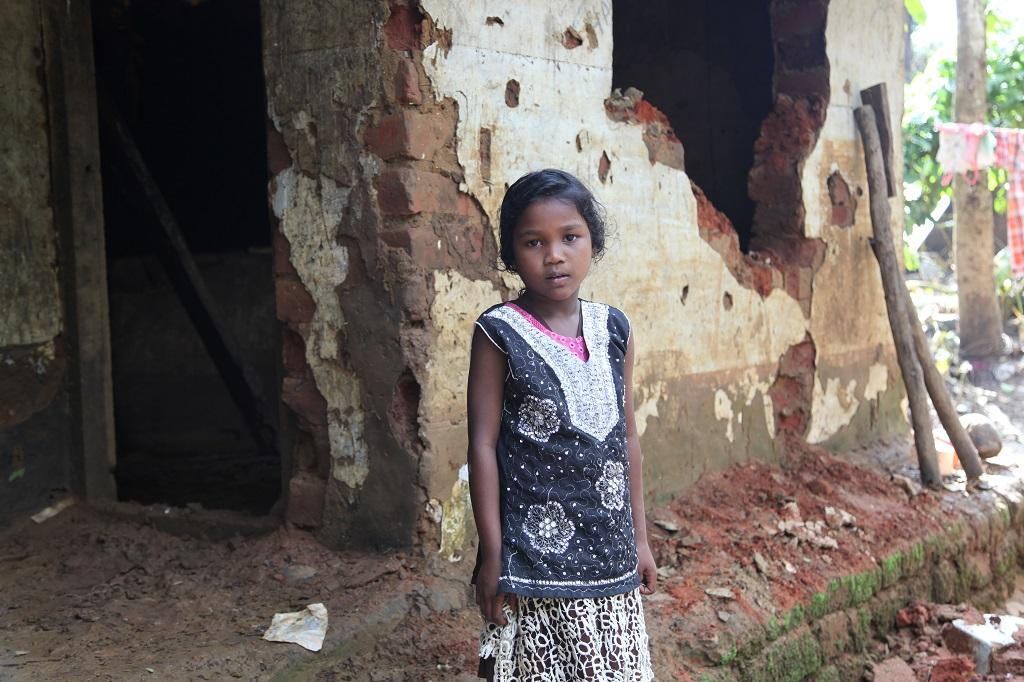 """The future of Nikitha and her family looks bleak. """"For the time being, I am staying with my neighbour. But how long can we depend on others?"""" says Janaki, Nikita's mother. Their father left them a year ago leaving behind Janaki and four little children. Right now they are living at the mercy of their neighbours"""