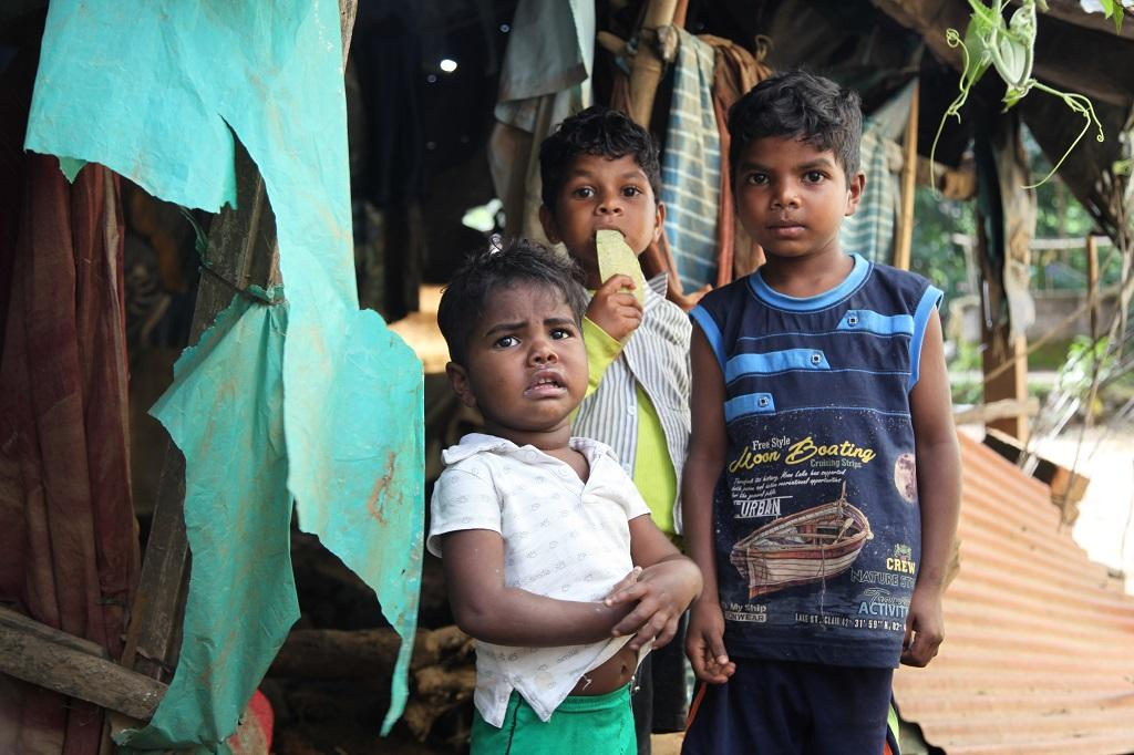 """My children have only eaten few pieces of bread since morning. We have no food or water,"" says Sunitha, a mother of four. They are just back from the relief camp and found nothing left in the place where their house once stood"
