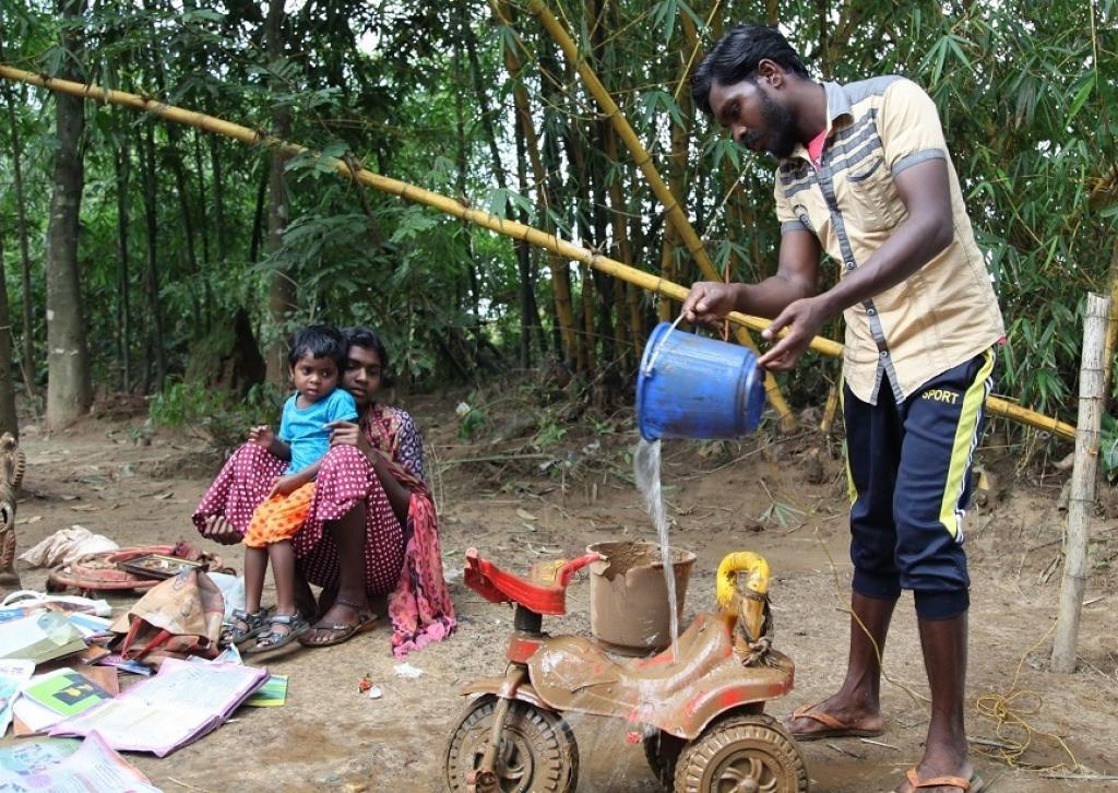 """""""There is nothing much left. But, we are checking if there is anything that is still usable,"""" says Rajan as he salvages household items from the debris. Rajan is a daily wage labourer, who has a family of six to look after"""
