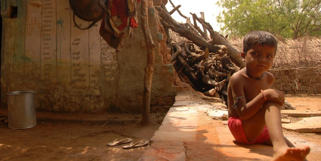 Malnourished kids in India