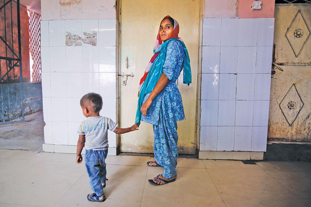 Rubina Khatun of Ghaziabad is pregnant with her third child and will not be eligible for the maternity benefit scheme which covers only the first live birth