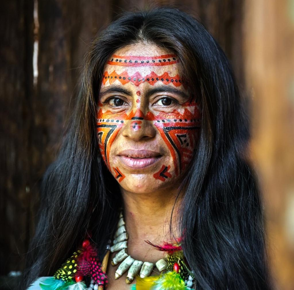 Portrait of an Indian from Brazil's Amazon      Credit: Getty Images