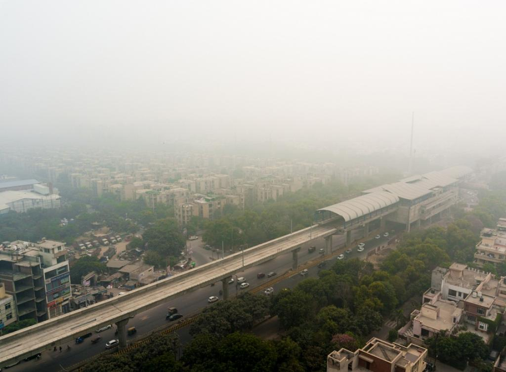 A smoggy day in Delhi. Credit: Getty Images
