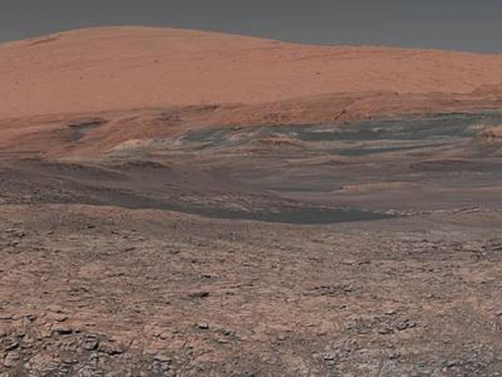 Here's a recollection of previous Mars missions by NASA. Mosaic, taken by Mars Curiosity rover launched in 2011, looks uphill at Mount Sharp. Credit: NASA